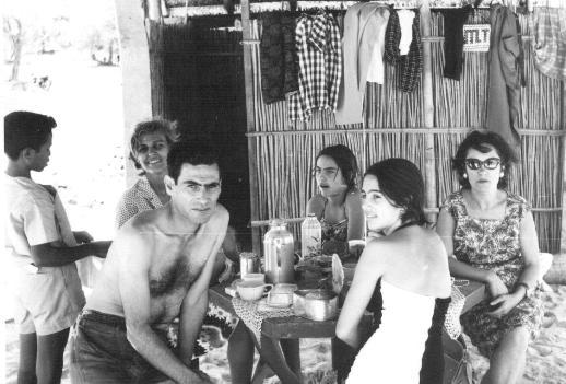 Zé Quique, Deanna, Machado, filhas e esposa
