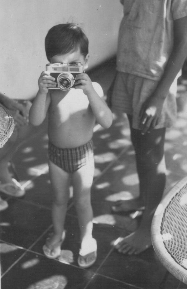 Já com veia do grande fotógrafo jornalístico em que se transformou