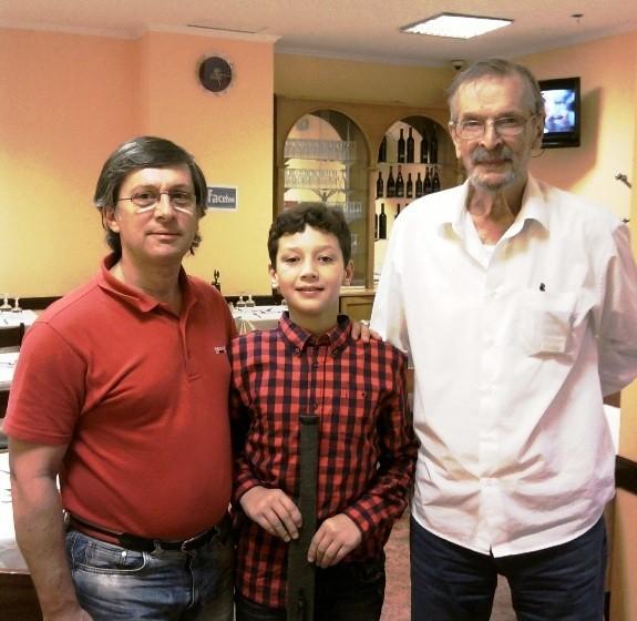 Fernando Rodrigues, Diogo Freitas, (o Di Hoquista) e eu.