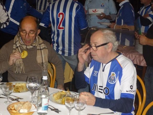 Abílio Moreira, de cachecol e Fernando Barbot